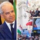 Nazionale, la sfilata sul bus aperto era vietata. Il prefetto di Roma: «La Figc ha violato i patti»