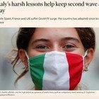 Coronavirus, il Financial Times elogia l'Italia: «Così ha frenato la seconda ondata»