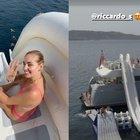Chiara Ferragni sul mega yacht con campo da basket e super scivolo. Fedez terrorizzato: «È troppo alto»