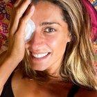 Isola dei Famosi 2021, Elisa Isoardi tornata in Italia: la foto con l'occhio bendato. «Ho fatto accertamenti»