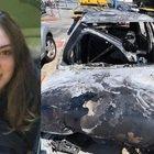 Elisa morta nell'auto in fiamme finita fuori strada. Aveva 19 anni