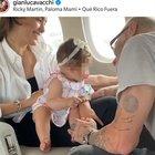 Gianluca Vacchi, jet privato con la figlia appena nata: «È il primo viaggio della nostra principessa» VIDEO