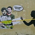 Nuovo murale di Laika per Patrick George Zaky in via Salaria