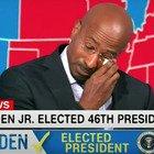 Joe Biden eletto presidente, il commentatore della Cnn scoppia in lacrime: «È più facile essere un padre oggi» Video