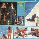 Valentino Rossi e la fidanzata Francesca Sofia Novello in barca insieme ad alcuni amici (DiPiù)