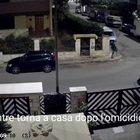 L'assassino è ripreso dalle telecamere mentre torno a casa dopo l'omicidio