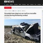 Circondati dai coccodrilli per 4 giorni, incubo per due giovani in Australia