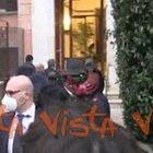 Draghi arriva nella sua casa a Roma prima di salire al Colle