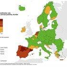 """Variante Delta, la mappa del contagio in Europa (Ecdc): Spagna e Olanda """"rosso scuro"""", la Francia verso il giallo"""