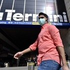Emergenza coronavirus, stazione Termini a Roma semivuota (foto Daniele Leone/Ag.Toiati)