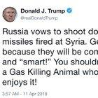 Il tweet: «La Russia si prepari, arrivano i missili»