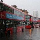 Londra, strade allagate dopo l'ondata di maltempo