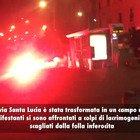 Guerriglia a Napoli nella prima notte di coprifuoco: scontri e devastazioni