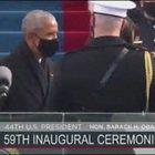 Barack e Michelle Obama alla cerimonia di inaugurazione della presidenza Biden