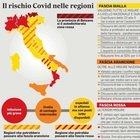 Ecco le Regioni che rischiano di diventare zona rossa in base al report dell'Iss