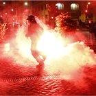 Roma, scontri a piazza del Popolo