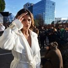 Elisabetta Canalis in topless alla Milano Fashion Week