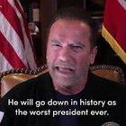 """Assalto Senato USA, Schwarzenegger: """"Trump leader fallito, peggior Presidente di sempre"""""""