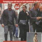 Rocco Siffredi a Roma con la moglie Rosa Caracciolo e il figlio Leonardo (Vero)