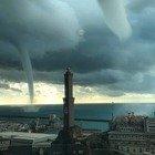 Tempesta di fulmini su Genova: due sfollati, colpita la Lanterna