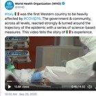 Covid, l'omaggio dell'Oms all'Italia in un video da brividi: «Ha ribaltato la traiettoria dell'epidemia»