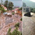 Maltempo in Lombardia, a Como fiumi esondati e strade chiuse: 50 persone isolate per una frana