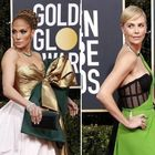 Golden Globe, i look del red carpet: Jennifer Lopez pacco regalo, Charlize Theron in verde. Tutte le foto