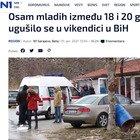 Choc in Bosnia: otto ragazzi tra i 18 e i 20 anni morti asfissiati in casa la notte di Capodanno