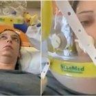 Covid, Clotilde, 37 anni: «Sono ricoverata con il casco a ossigeno, è terribile: sembra di soffocare. Non è una malattia dei vecchi» Video