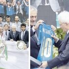 Italia campione d'Europa, Nazionale da Mattarella e Draghi. Gli azzurri sfilano sul bus scoperto per le vie di Roma