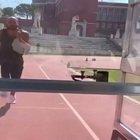 Jacobs corre veloce come un'auto, l'allenamento