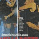 """Antonella Mosetti col fidanzato Salvatore Gabriel Valerio, concorrente di """"Amici"""" nel 2004 (Novella2000)"""