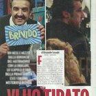 Flavio Insinna, aperitivo con una bionda misteriosa a Roma (Novella2000)