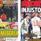 La sconfitta vista dai giornali iberici. As titola in italiano: «Porca miseria»