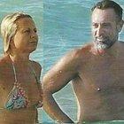 Antonella Elia e Pietro Delle Piane gelo sotto al sole: lui cerca di riconquistarla, lei non lo degna di uno sguardo