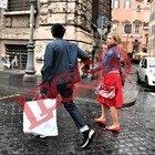 Antonella Elia sorpresa a Roma con il fidanzato le foto esclusive di Rino Barillari