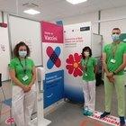 Inaugurazione hub vaccinale presso Amazon
