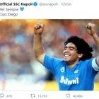 Il tweet del Calcio Napoli: «Per sempre 💙 Ciao Diego»