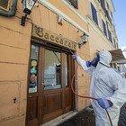 Roma, Coronavirus fase2: sanificazione dei ristoranti di Trastevere (foto Davide Fracassi/Ag.Toiati)