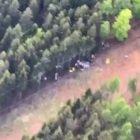 Funivia precipitata sul Mottarone, le tragiche immagini aeree dall'elicottero dei carabinieri