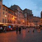 Roma, controlli anti-folla a Campo de' Fiori