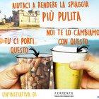 Birra gratis in cambio di un bicchiere pieno di mozziconi raccolti sulla spiaggia: l'iniziativa a Santa Severa