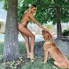 Manila Nazzaro ha la cellulite? Il commento di Lorenzo Amoruso: «No, è la bava del cane»