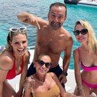 Michelle Hunziker, vacanze vip con Ilary Blasi e Nicola Savino. Il commento di Francesco Totti
