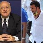 De Luca a Salvini: «Venditore di cocco. Briatore? Auguri per la sua prostatite ai polmoni...»