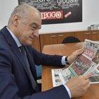 Enrico Michetti in redazione a Leggo