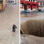 Maltempo, Crotone allagata dal nubifragio: persone portate in salvo a braccia. Il sindaco: «Rimanete a casa»