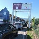 """Valmontone, aperto il primo centro vaccinale """"Drive In"""" del Lazio: è uno dei più grandi d'Italia (foto Sciurba)"""