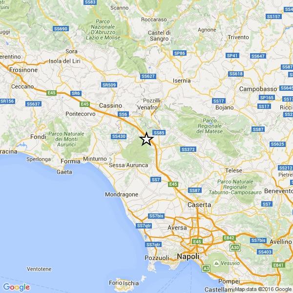 Terremoto tra Caserta e il Molise, paura ma niente danni