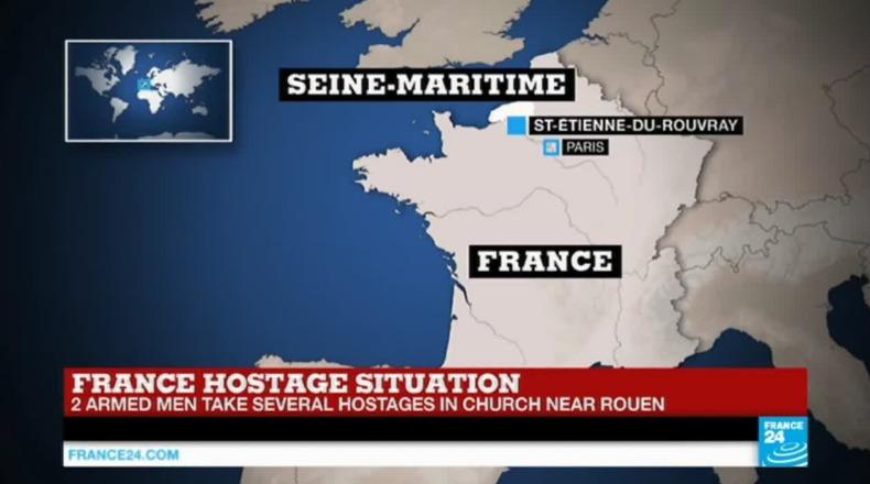 Francia: 5 ostaggi in una chiesa a Rouen, ucciso prete gridando